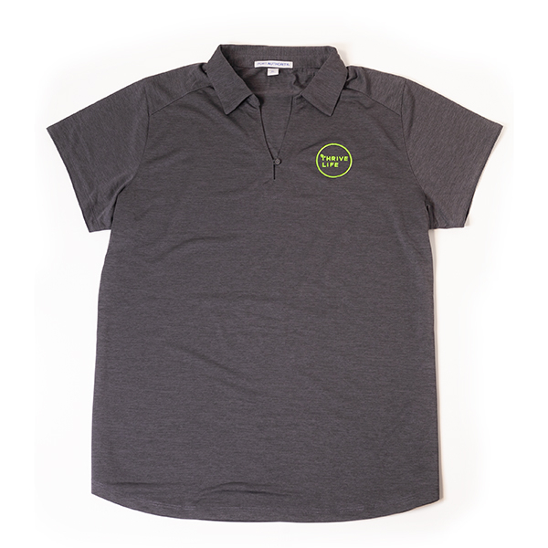Womens Dark Grey Polo