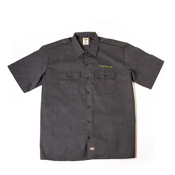 Men's Grey Button Up Shirt