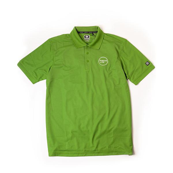 Mens Gridiron Green Polo
