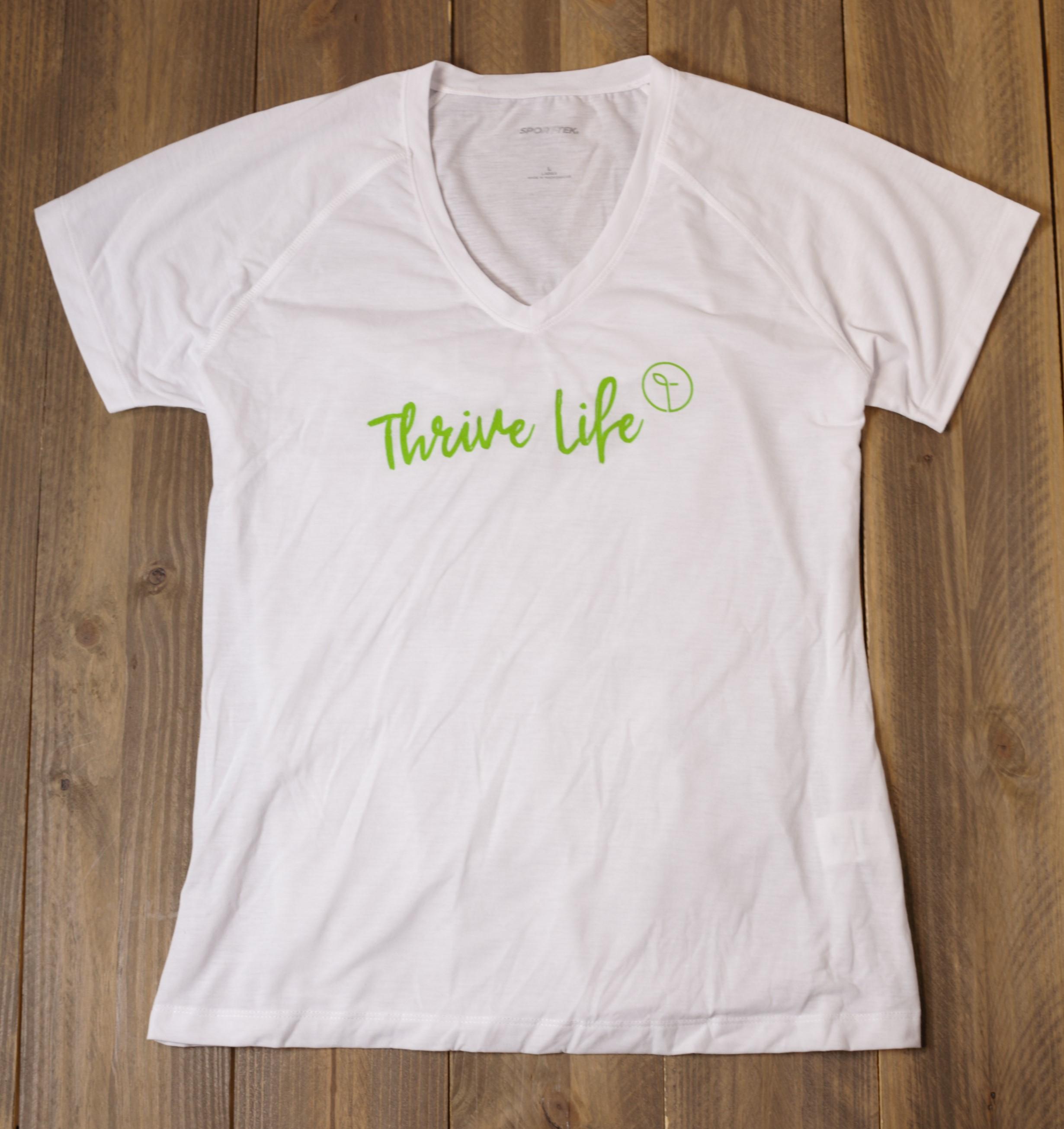 Womens V-Neck T-Shirt - White