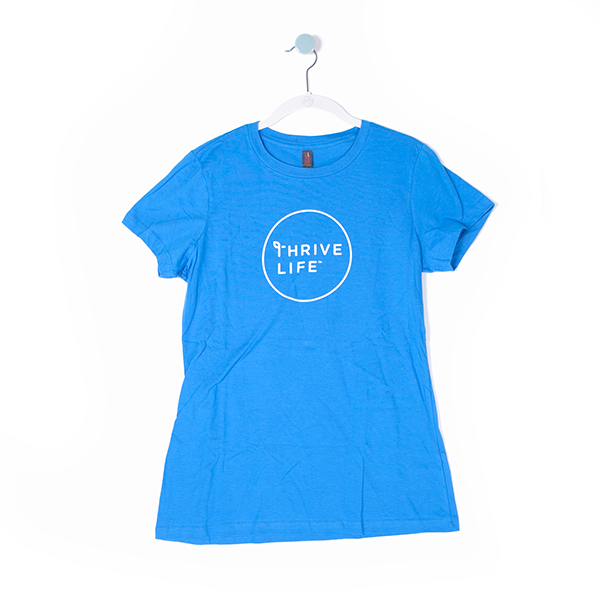 Women's Circle Logo T-Shirt - Blue