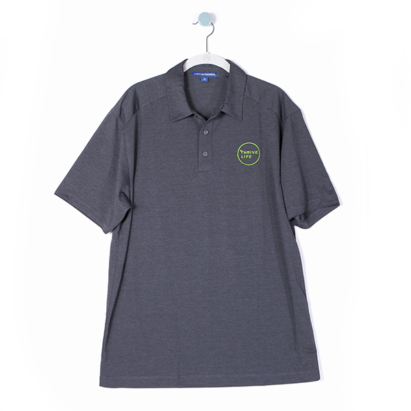 Mens Polo - Charcoal Grey