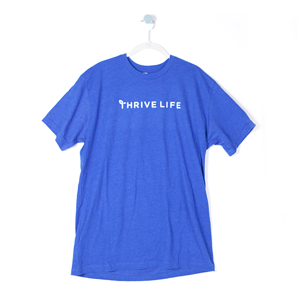 Men's Single Line T-Shirt - Blue