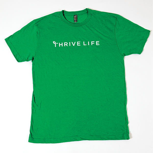Men's Thrive Life Envy Green T-Shirt