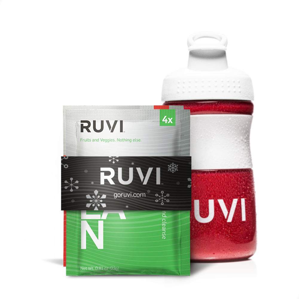 Ruvi Holiday 2-Pack with Bottle (Clean & Active)