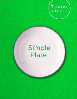 Green Simple Plate Recipe Binder