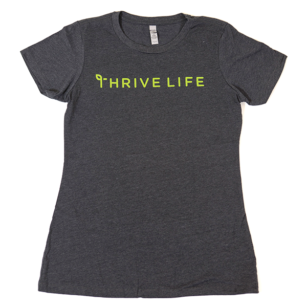 Women's Thrive Life Charcoal T-Shirt