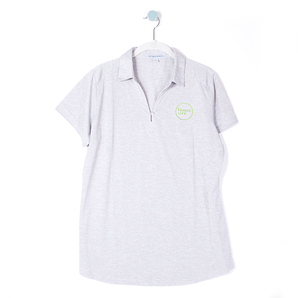 Women's Circle Logo Polo - Grey