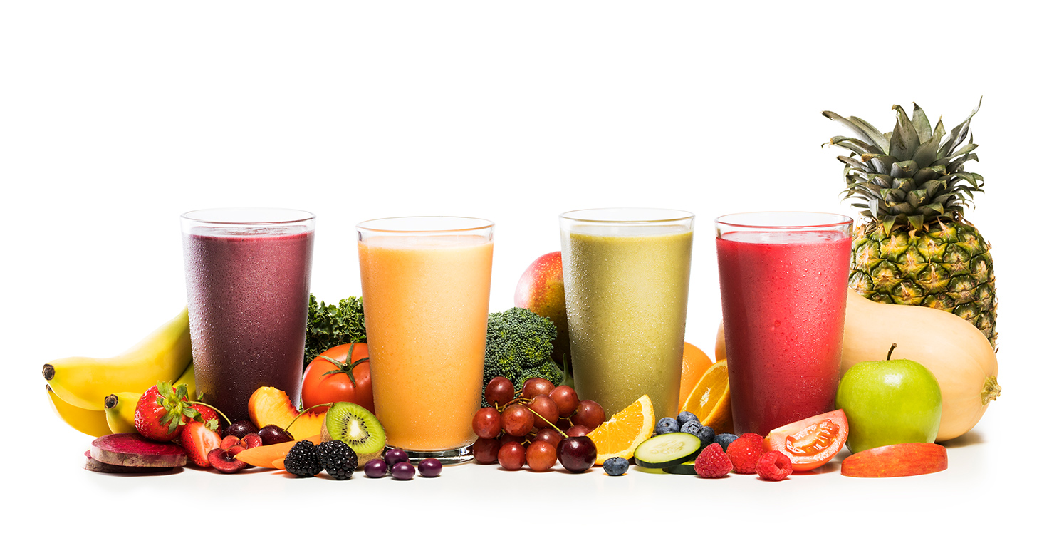 4 Blends. 26 whole fruits and vegetables.